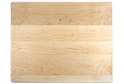 Wood cutting board with rounded corners and edges