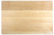 Solid wood cutting board rounded corners & edges