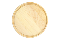 Round maple cutting board