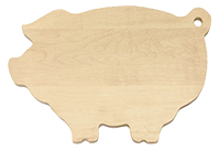 Pig-Shaped maple cutting board