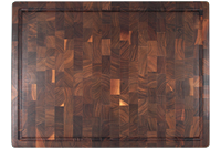 End grain Walnut butcher block with finger grip