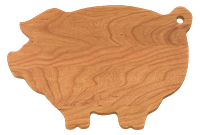 Pig-Shaped cherry cutting board