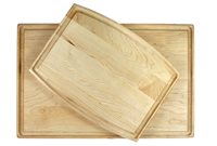 Package of two maple cutting boards with juice groove