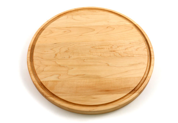 Large Round Maple Wood Cutting Board, Custom Engraving
