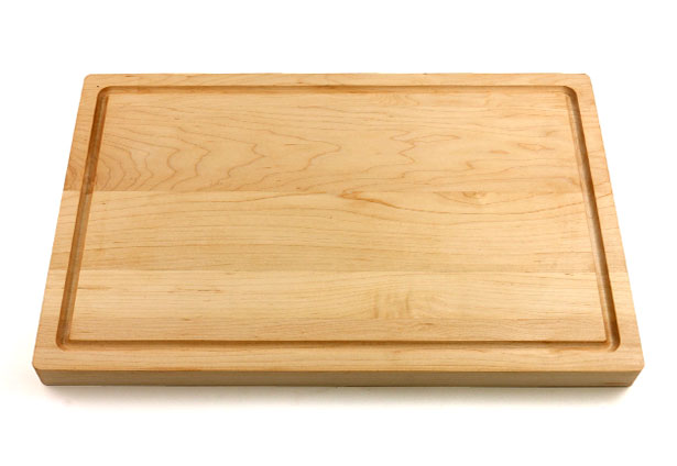 Wood Cutting Board Rounded Edges And Juice Groove