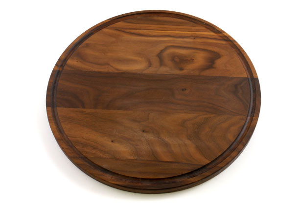 Large Round Walnut Wood Cutting Board, Custom Engraving