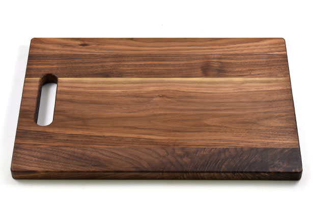 Large Walnut Wood Cutting Board with Handle, Hardwood, Custom Engraving, Made in Canada