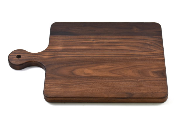 Walnut Wood Cutting Board with Rounded Handle, Custom Engraved, Chopping Board, Presentation Board, Made in Canada