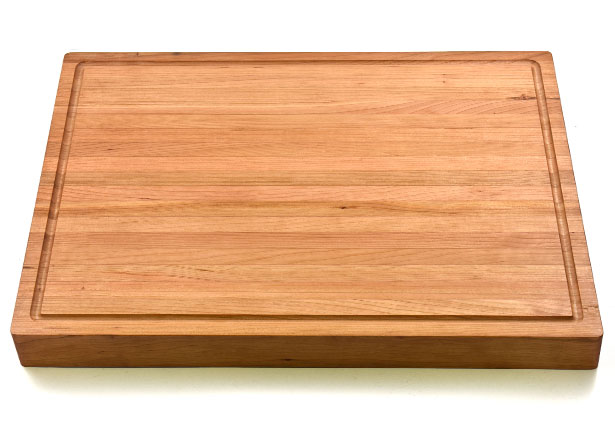 Large 1 3/4 Inch Cherry Butcher Block with Juice Groove, Custom Engraving, Made in Canada