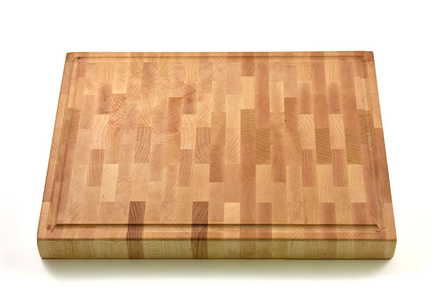 Small Cherry End Grain Cherry Butcher Block with Finger Grip, Custom Engraving, Made in Canada