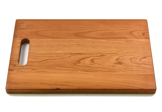 Large Cherry Wood Cutting Board with Handle, Hardwood, Custom Engraving, Made in Canada