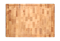 End Grain Maple Butcher Block with Finger Grip , Wood Cutting Board, Custom Engraving