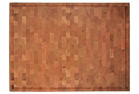 Large End grain Cherry butcher block with finger grip