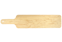 Baguette Cutting Board, Long Maple Wood Serving Board with Handle, Hardwood Cutting Board, Made in Canada
