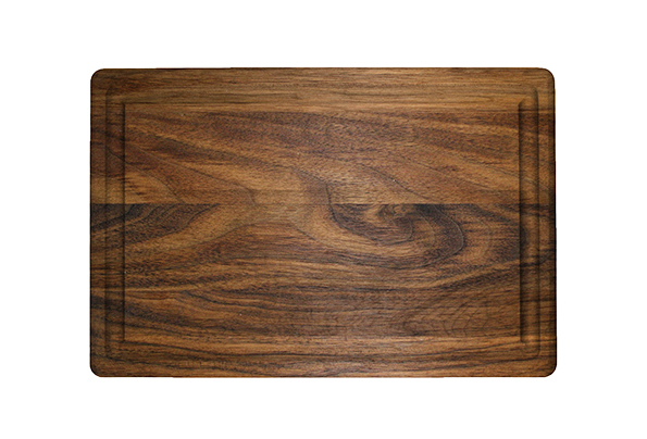 Rectangular cutting board with rounded corners & juice groove