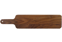 Baguette Cutting Board, Long Walnut Wood Serving Board with Handle, Hardwood Cutting Board, Made in Canada
