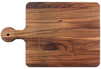 Cutting board with rounded handle