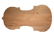 Violin shaped cutting board