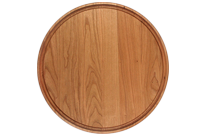 Large Round Cherry Wood Cutting Board, Custom Engraving