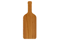 Cherry wine bottle cutting board