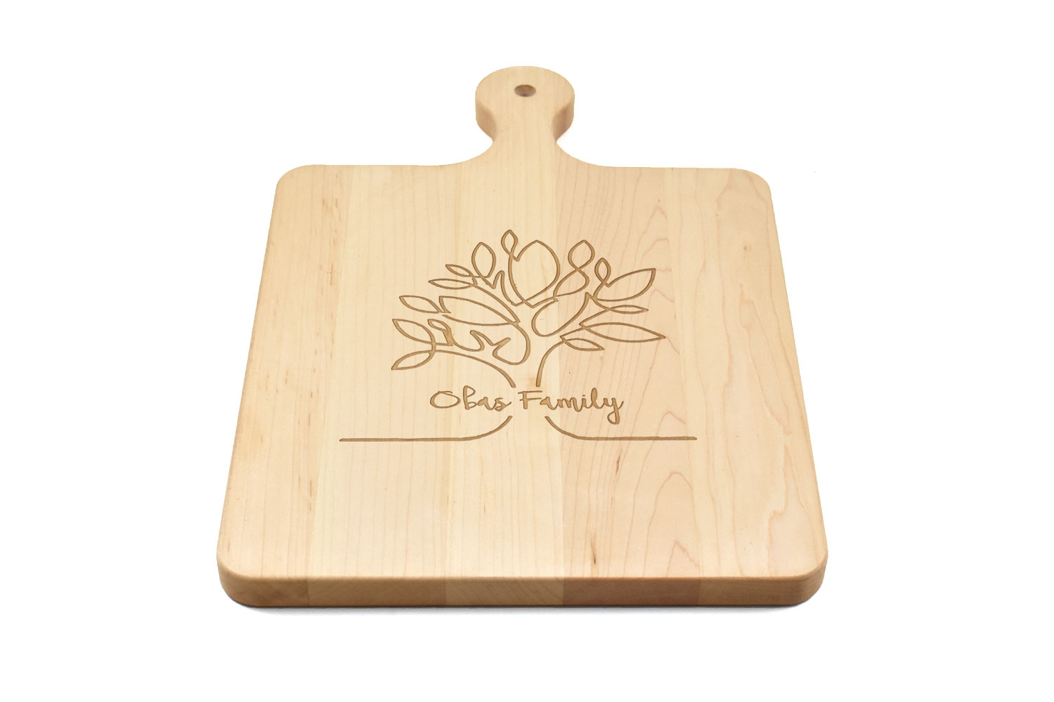 Maple Wood Cutting Board with Rounded Handle, Custom Engraved, Chopping Board, Presentation Board, Made in Canada